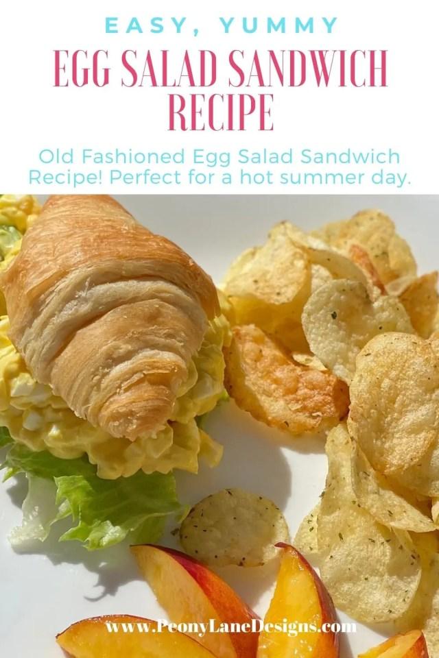 Egg Salad Sandwich Recipe // Egg Salad // Egg Salad Sandwich // Sandwich recipe // old fashioned egg salad // basic egg salad
