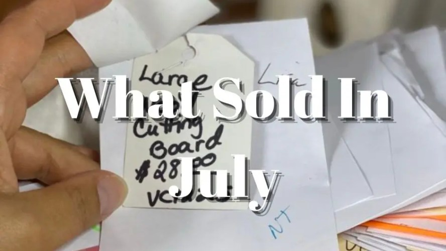 What Sold In July 2021 in My Vintage Shop