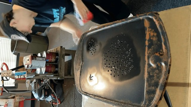 painting the oxidizing paint