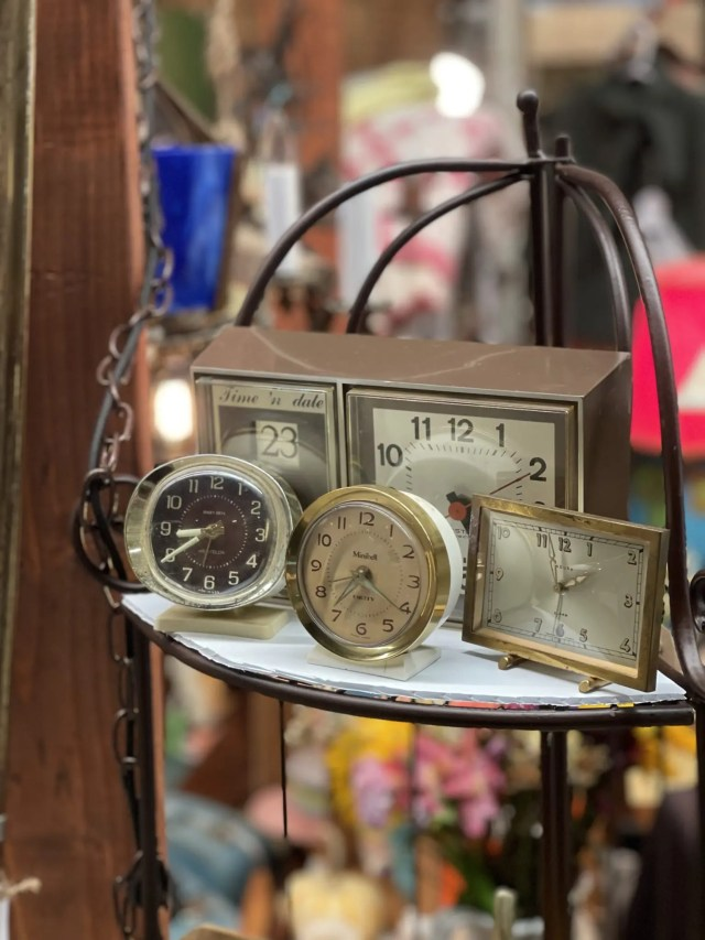 Collection of clocks in my Junk Bonanza Booth