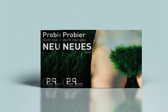 Flyer People-Pictures - Probier doch mal was neues - Beispiel für Produktfoto