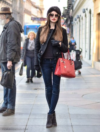 Cossack hat street style look, photo by peopleandstyles.com