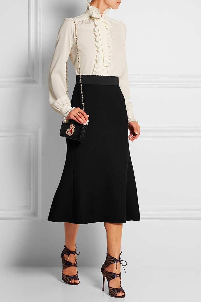 Wear to Work: Midi Skirt, Dolce & Gabbana's Wool-crepe midi skirt