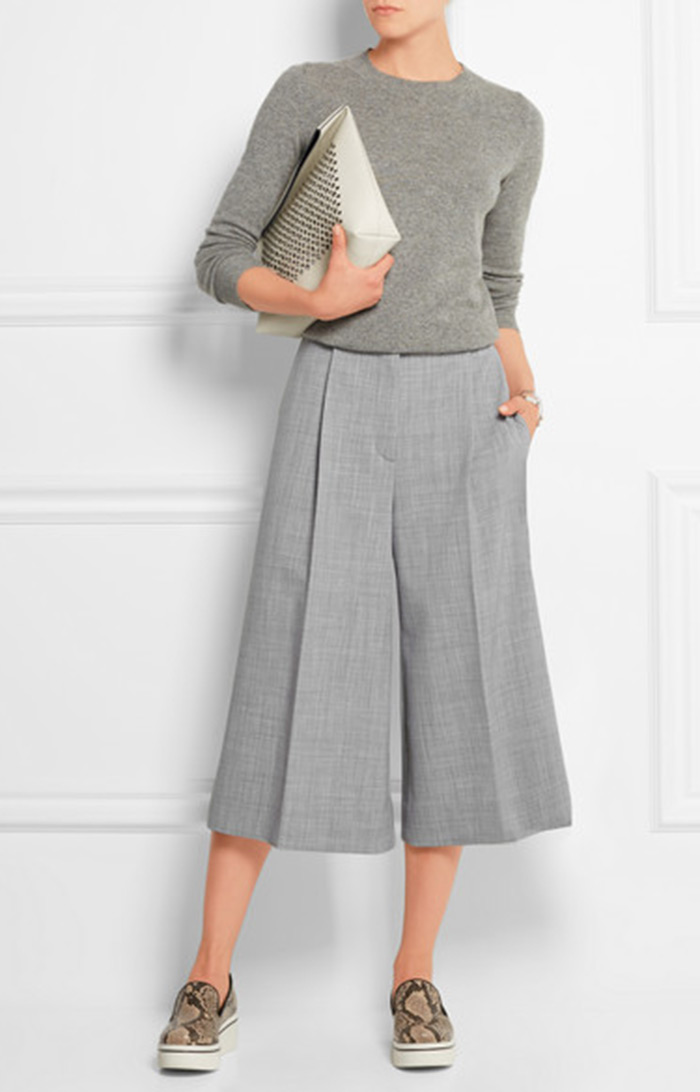 Wear to Work: Culottes, Stella McCartney Stretch-wool culottes