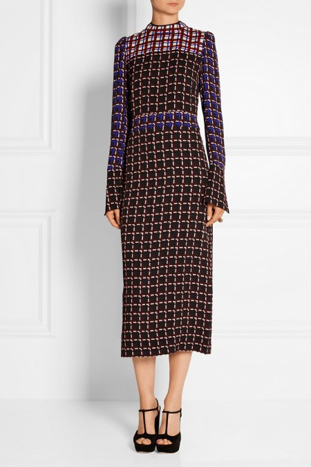 What to wear to work: midi dress Marni, street style look from Paris