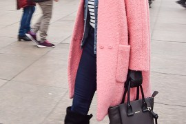A Pink Coat is Your Winter Style Saver, #streetstyle #coat #outfit by PeopleandStyles.com