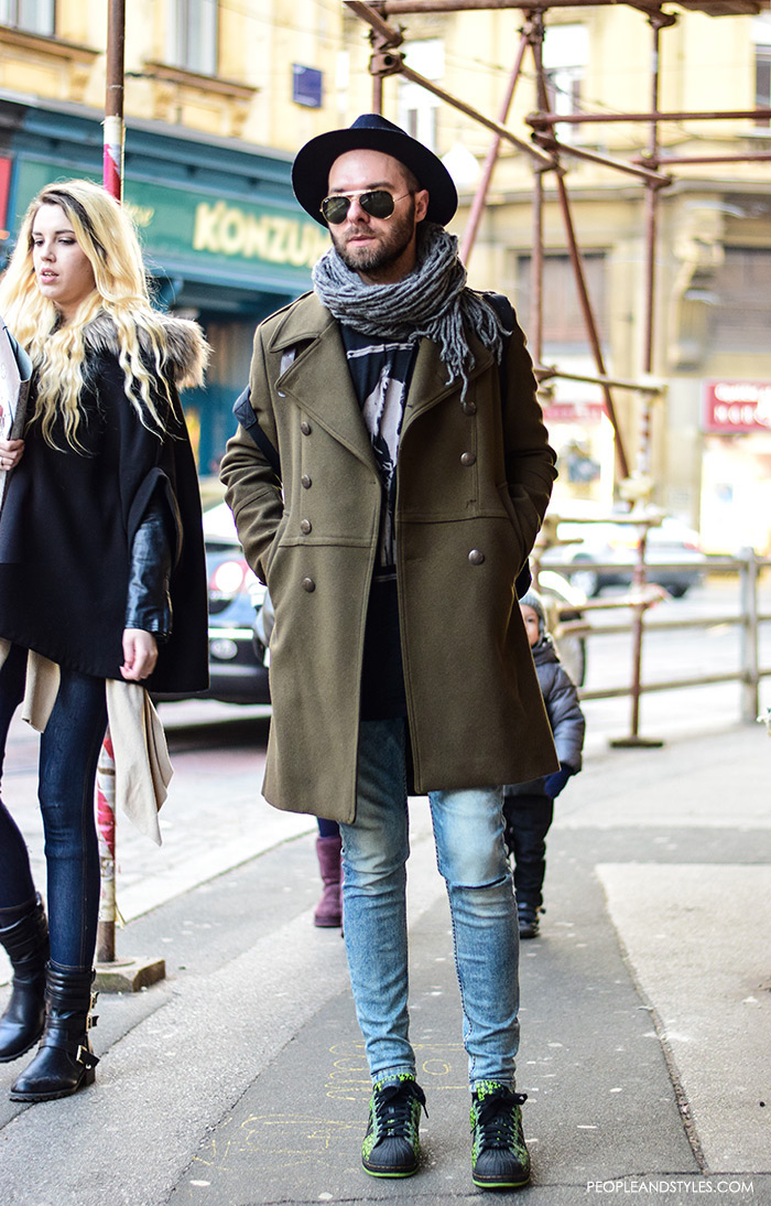 Casual Winter Outift Men Wearing Overcoats Fashion