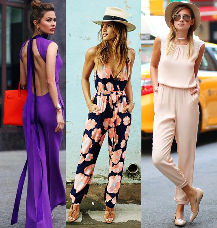 Jumpsuits styles trend, how to wear elegant jumpsuits images Pinterest