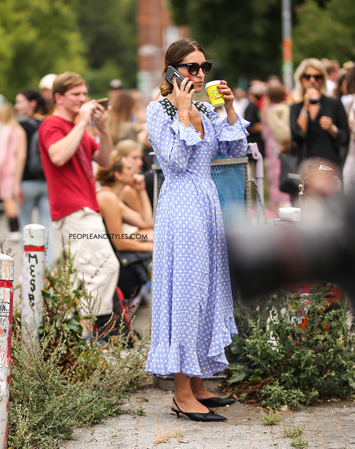 Street style outfit Freesia dress by Stine Goya new photo Copenhagen Fashion Week