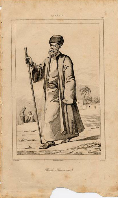 Print of Armenian man 1838