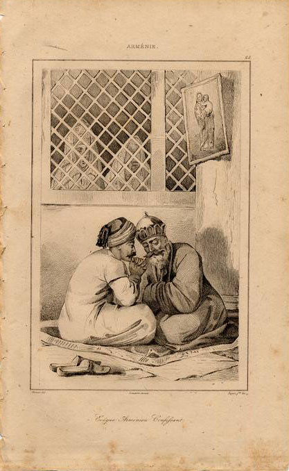 Print of Armenian men 1838