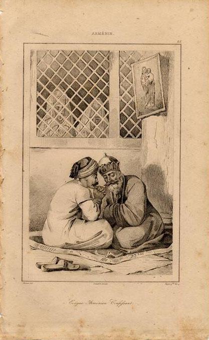 Print of Armenian men 1838