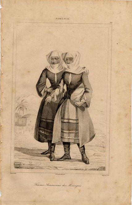 Print of Armenian nuns 1838