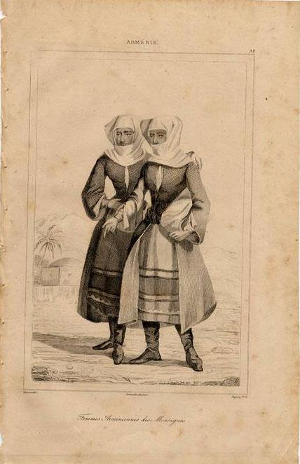 Print of Armenian nuns 1838