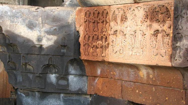 Armenian Cross stones in Ani