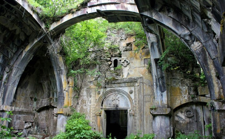 Geghdznudi Monastery: located in Tavush region, deep in the forest, 9 km south west of Ajarqourt village -- 13th Century.