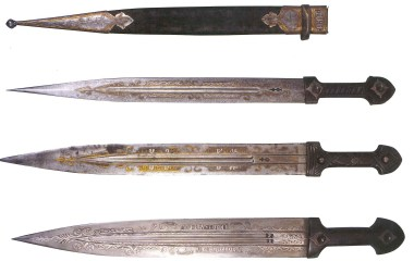 A set of Armenian daggers from the 19th-c.