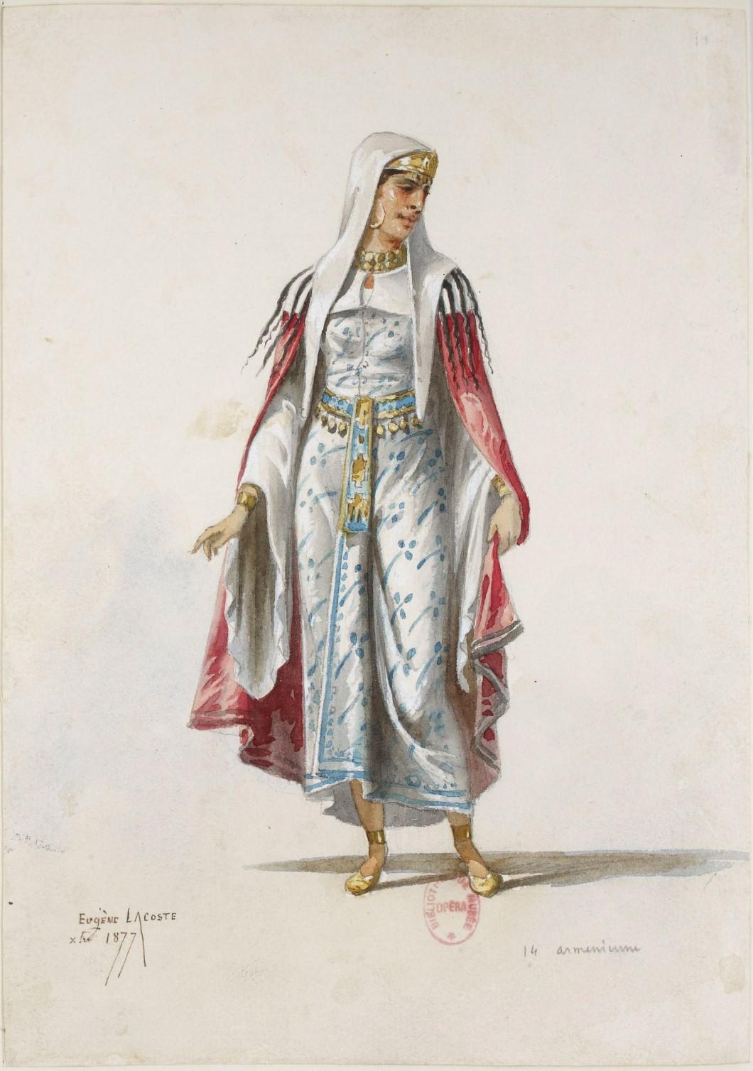 Armenian lady by Eugene Lacoste