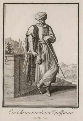 Armenian Merchant, Johann Christoph Weigel (17th-century), Germany