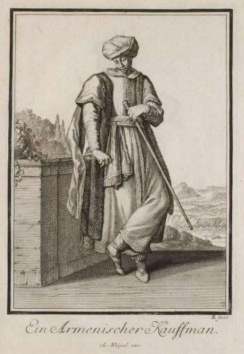 Armenian Merchant, Johann Christoph Weigel (17th-century), Germany