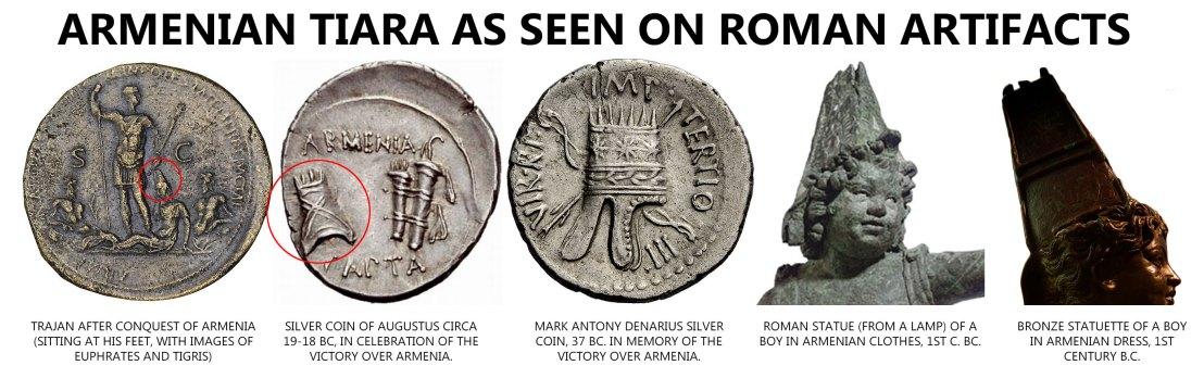 Armenian-Tiara-on-Roman-artifacts