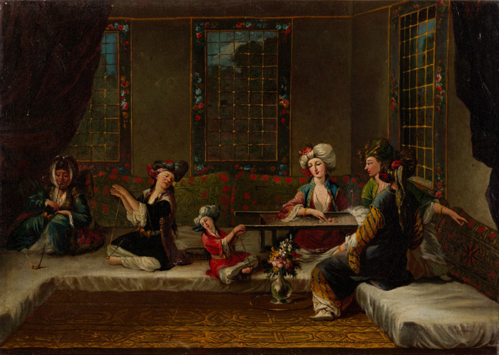 Armenian-women-embroidering-by-Jean-Baptiste-Vanmour
