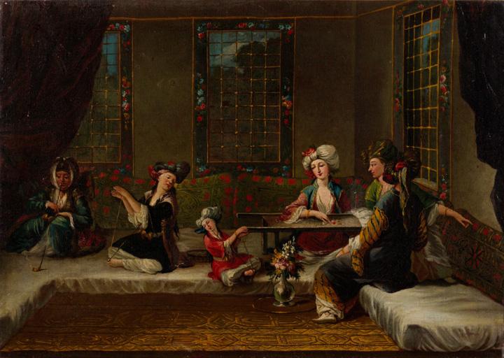 Armenian-women-embroidering-by-Jean-Baptiste-Vanmour