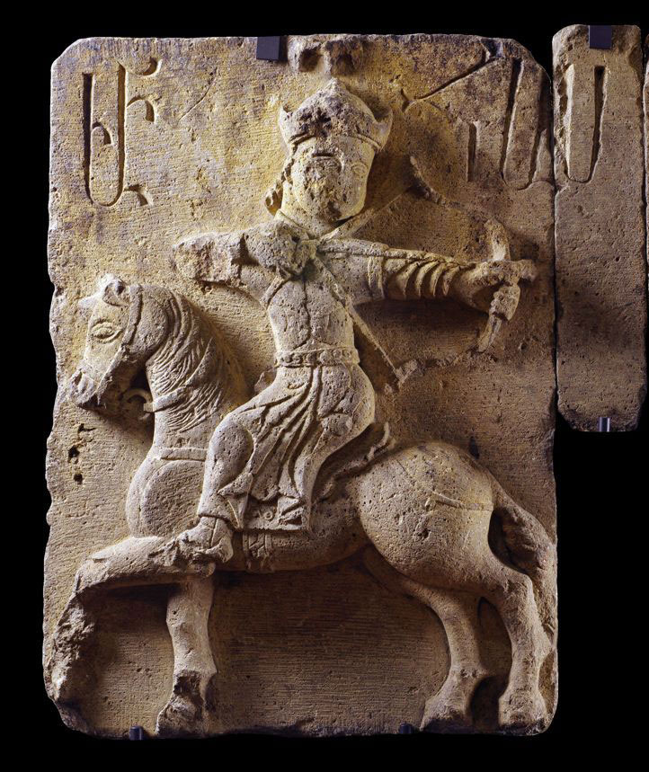 Bas relief of a hunting scene on horseback, early 14th century. Church of the White Virgin, Spitakawor Siwnik