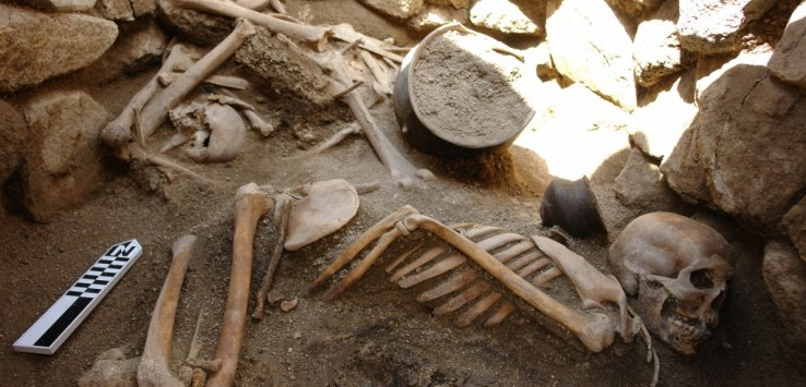 Remains at a Bronze Age burial at Gegharot Armenia
