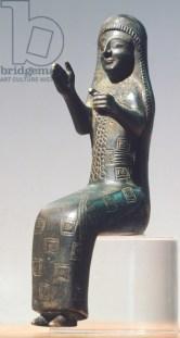 Bronze statue depicting goddess of fertility Arubani, Armenia, 8th Century BC.