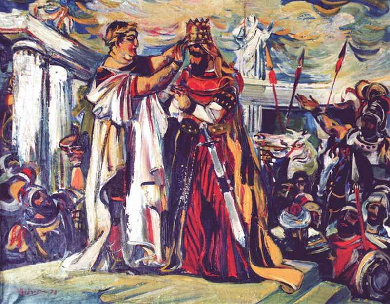 Painting of coronation of Armenian king