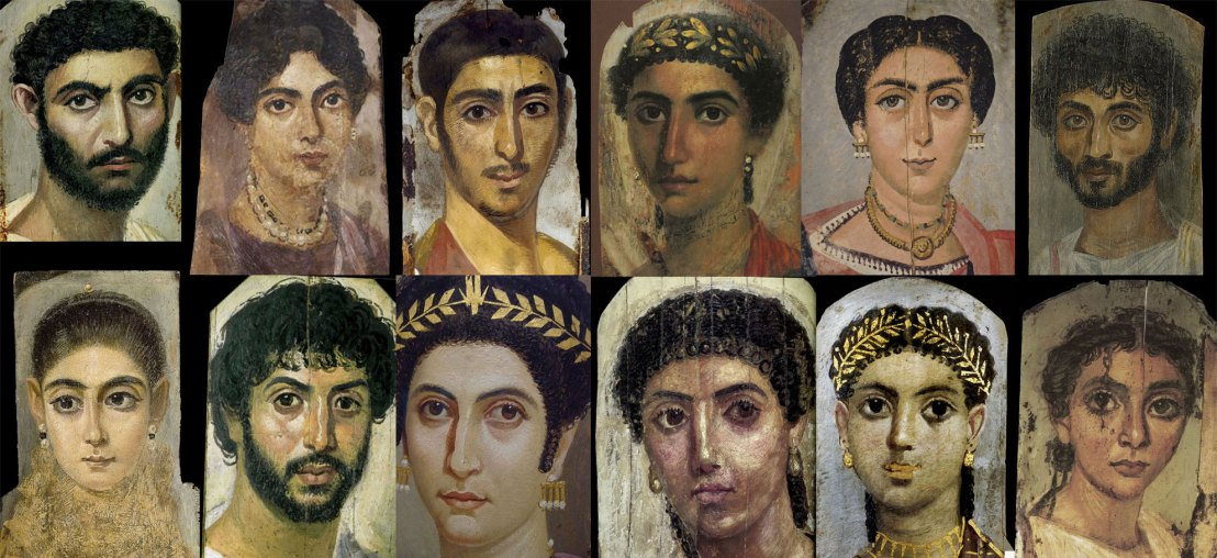 Egyptian mummy portraits, 1st c. B.C.E. - 1st c. C.E.