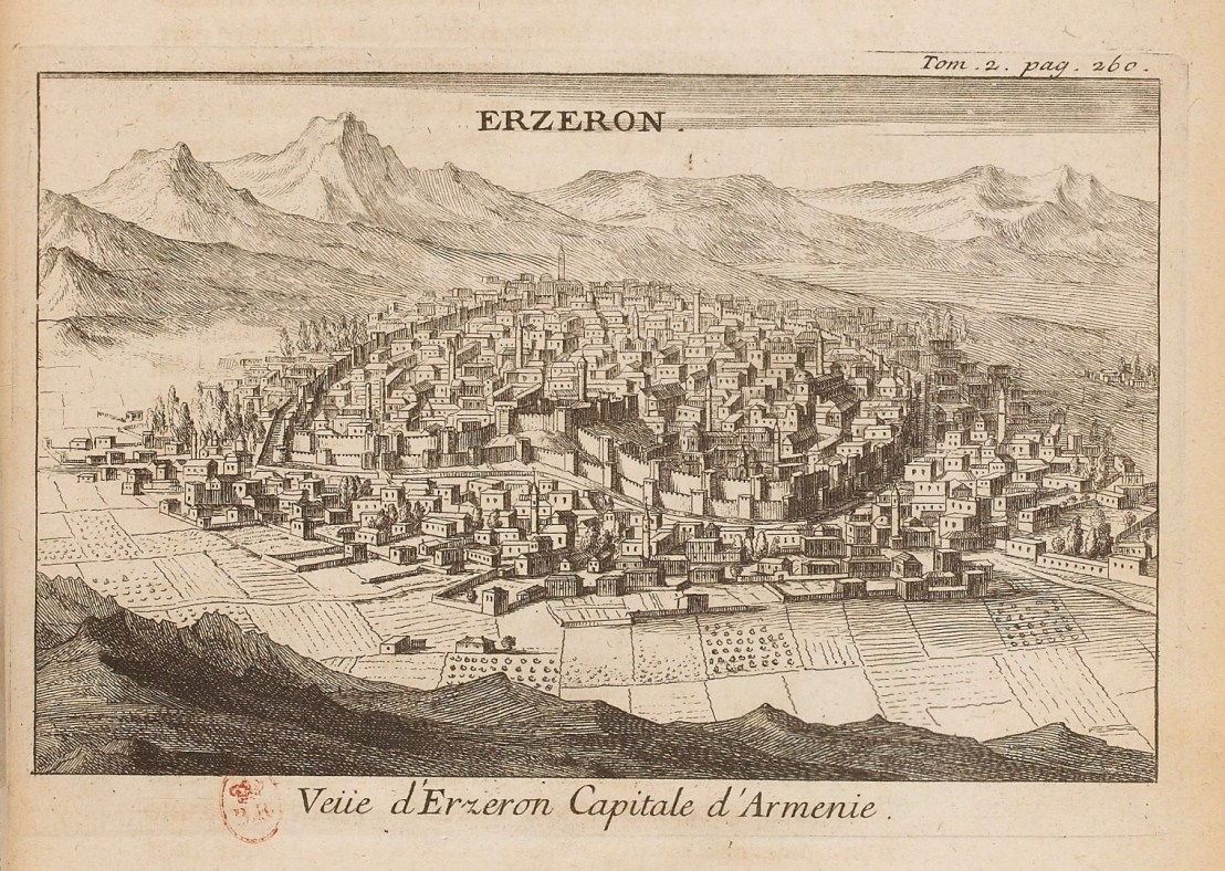 Illustration of Erzurum  by  Joseph Pitton de Tournefort (1656-1708)
