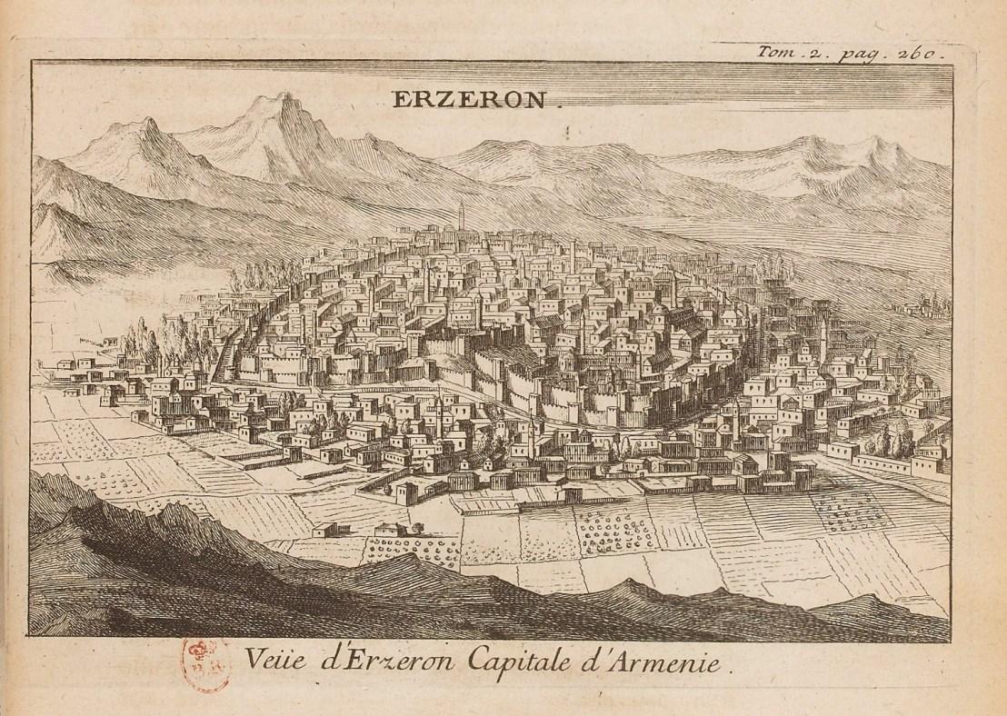 Illustration of Erzurum  by  Joseph Pitton de Tournefort (1656-1708)