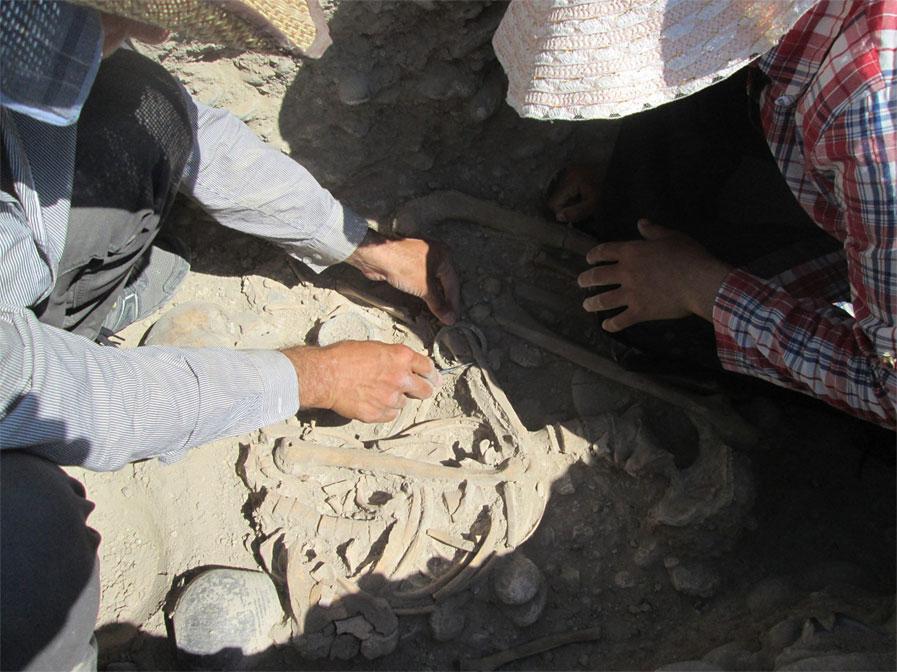 Excavating at the site, source: Armen Martirosian