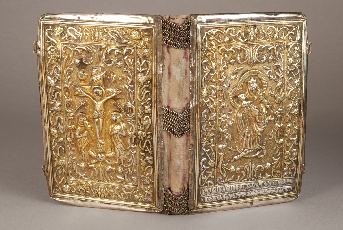 Armenian Gospel Book binding, 1828