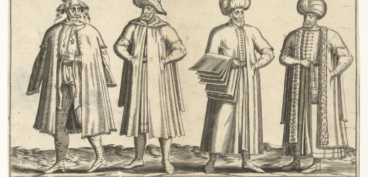Garments of merchants in Constantinople, around 1580, by Abraham de Bruyn (1581)