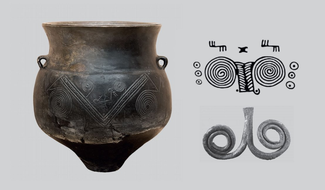 Kura-Araxes culture pottery from Armenia. Red and Black Burnished Ware dated to the Early Bronze Age.