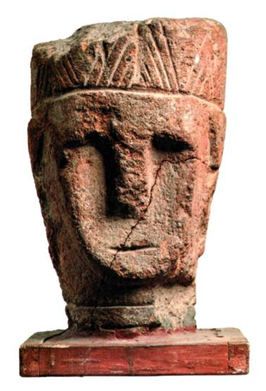 Male statue head, excavated in Dvin (dated either 9-8th c BCE or 1st c. BC).