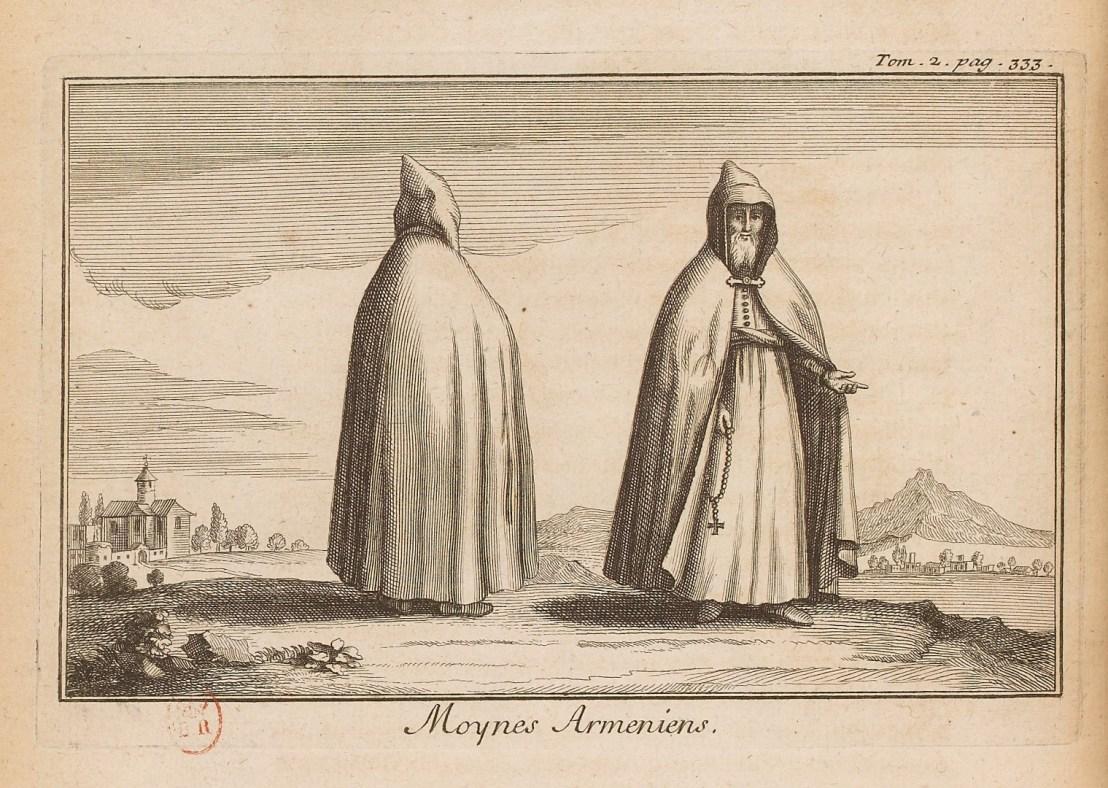 Illustration of Armenian priests by  Joseph Pitton de Tournefort (1656-1708)