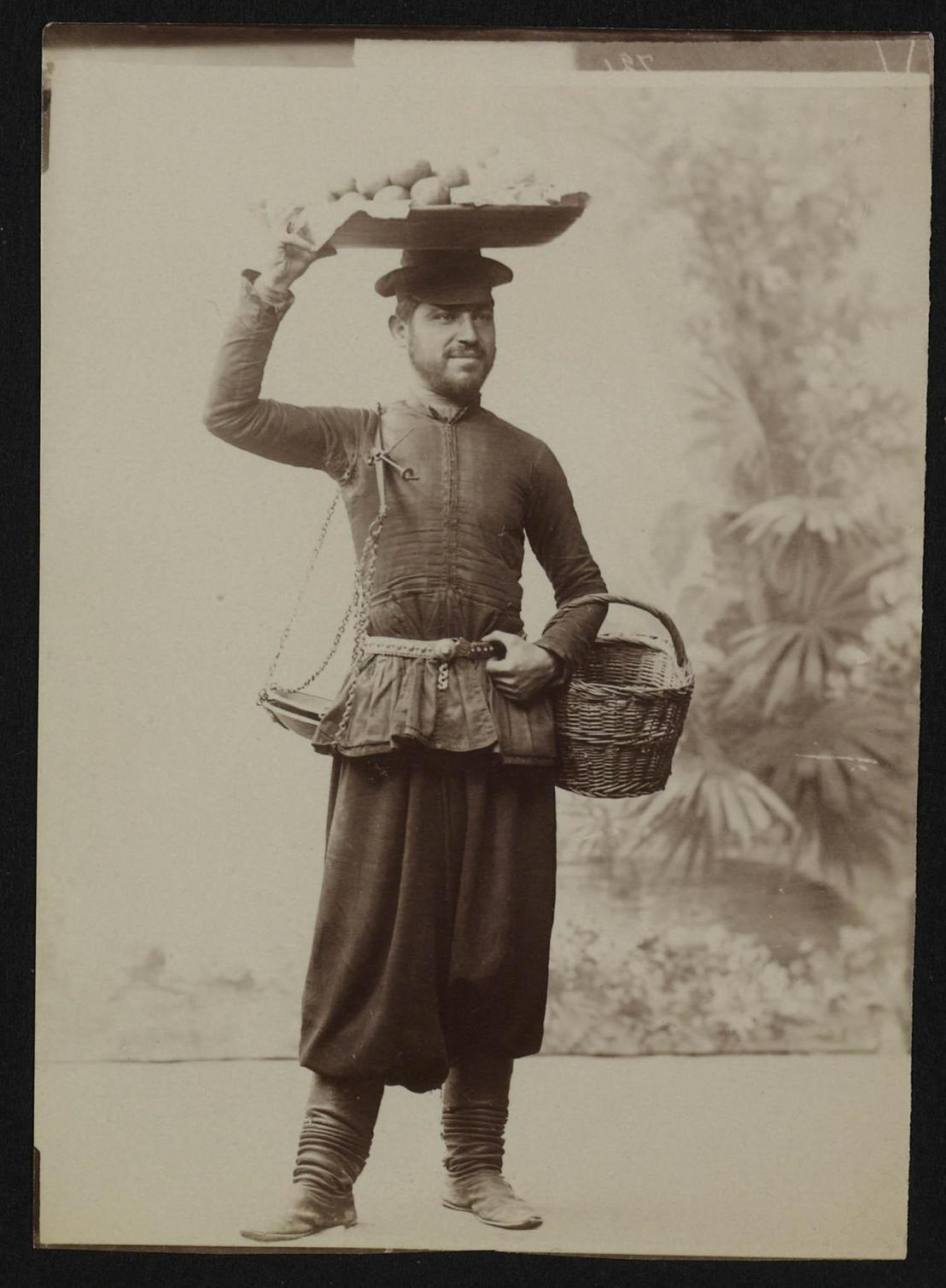Portrait of an Armenian fruit seller (ca. 1900, from Dutch National Archive).