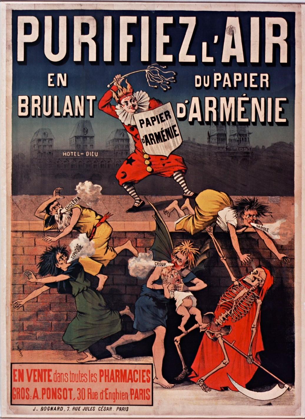 Purifiez-l'air-en-brûlant-du-papier-d'-Arménie-...--[affiche]--A.-Van-Geleyn---1880-1890