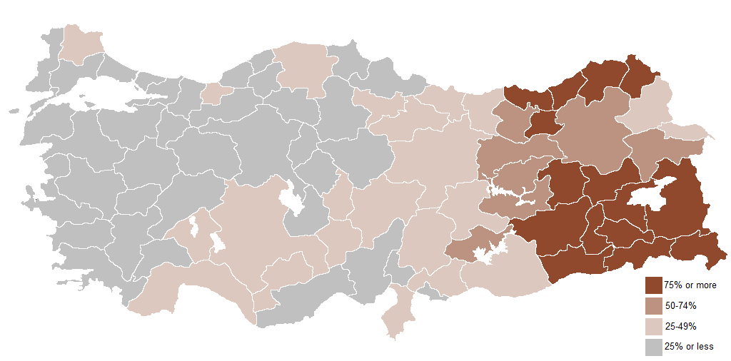 Percentage of geographical name changes in Turkey from 1916 onwards.
