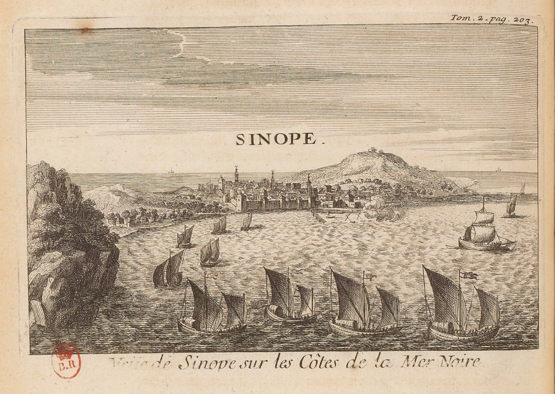Illustration of Sinope  by  Joseph Pitton de Tournefort (1656-1708)