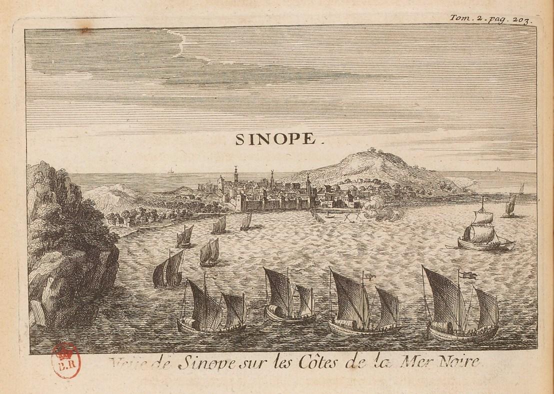 Illustration of Sinope  by  Joseph Pitton de Tournefort (1656-1708)