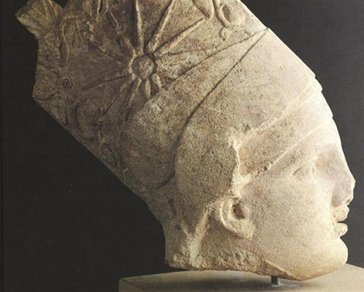 Statue of Antiochus I Theos of Commagene wearing Artaxiad Armenian tiara with a star depicted on it.