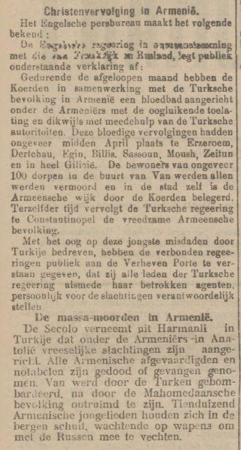 Tilburgsche Courant Christenvervolging in- Armenie