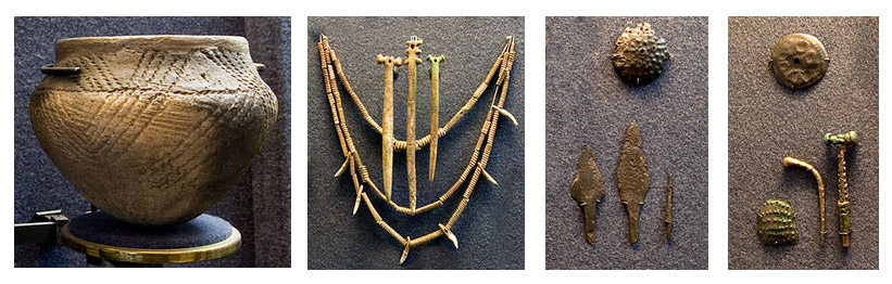 Artifacts from Yamnaya culture (c.a. 4000 BCE). Hermitage Exhibitions, Saint-Peterburg, Russia