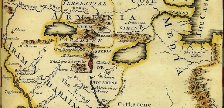 A Map of the Terrestrial Paradise, Emmanuel Bowwen (1714-1767)