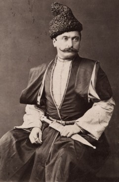 An Armenian man in traditional clothing